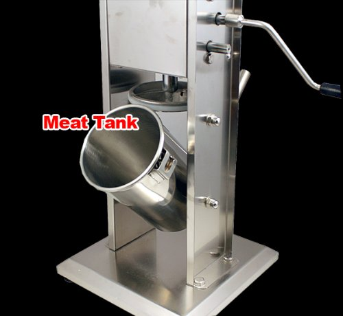 *Two Speed Commercial Restaurant Vertical Stainless Steel Sausage Stuffer 15lbs