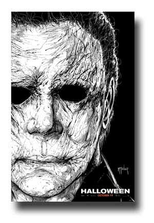 Halloween Poster Movie Promo 11 x 17 inches 2018 Mask Michael Myers