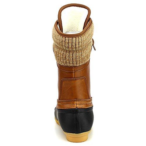 f2fb415bf55 Refresh Hunter Women's Waterproof Rubber Rain Skimmers Duck Boots, 5 M US
