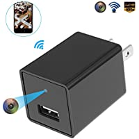 NexGadget Mini 1080P HD Security Wall Charger Wireless Camera Come with a 32GB SD Card, Motion Detection, Support Remote View (black1)