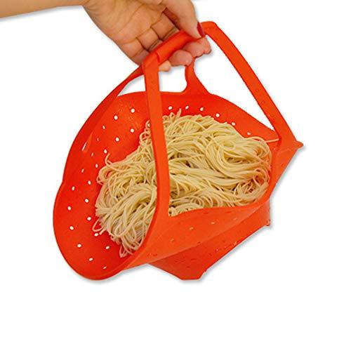 TOPBATHY Flexible Food Grade Silicone Meat Vegetable Noodles Sea Food Steming Basket Food Steamer Steaming Rack