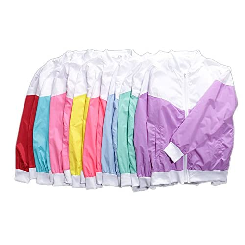 delicate Women Lightweight Active Fluorescent Color Cycling Running  Windbreaker Jacket 0859f43cb
