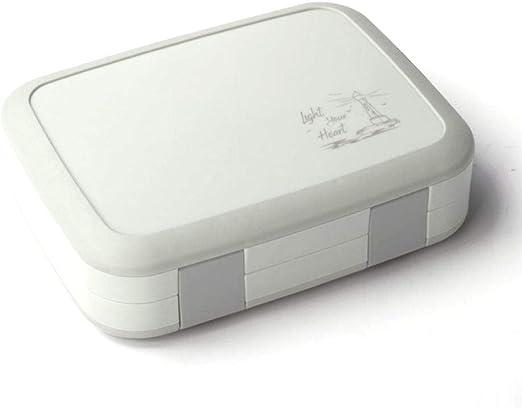 Lonchera,Caja Bento con 5 compartimentos, caja de bocadillos de plástico para niños y niños pequeños, contenedor de almacenamiento de alimentos para adultos con tapa de silicona a prueba de fugas: Amazon.es: Hogar
