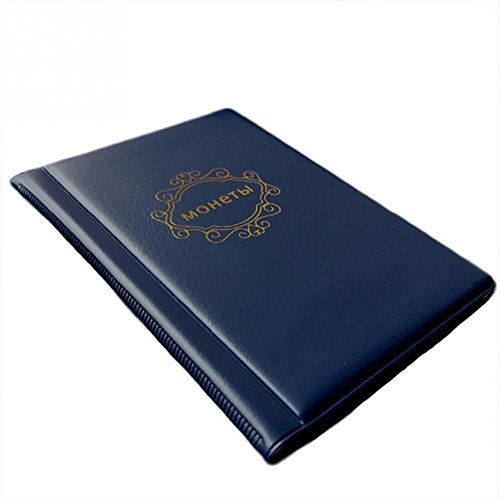 New Arrival Portable PVC Material 120 Coins Collection Album Money Coin Cases Collection Penny Book Storage Holder (Blue)