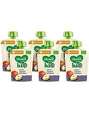 Olvarit BIO Peer, Appel, Bosbes 6+ maanden - knijpzakjes 6x 90 gram
