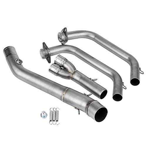 KIMISS 1 Set Stainless Steel Motorcycle Exhaust Front Pipe Kit Mounting Accessories for 51mm Muffler Pipe and YZF-R25/YZF-R3 2015-2018 ()