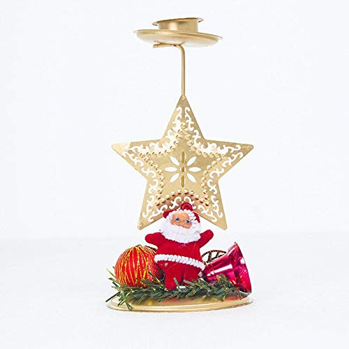 Santa Candle Exquisite Xmas Creative Hollow Stand Santa Tree Star Candle Holder Candlestick Home Party Wedding Decoration Fashion Photo Props