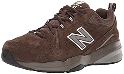 New Balance Men's 608v5 Casual Comfort Walking Shoe, Chocolate Brown/White, 8 4E US