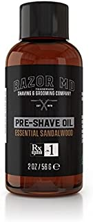 product image for Razor MD Pre-Shave Oil, Essential Sandalwood (2 fl. Oz) - Shaving Tools & Accessories for The Modern Man