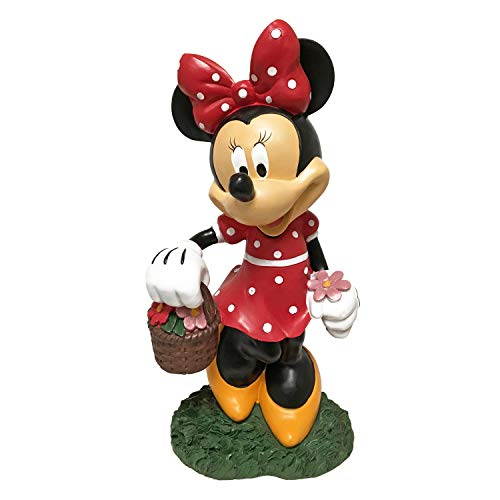 The Galway Company Disney Minnie Mouse Flower Pot Outdoor Garden Statue, Classic Disney Collection, Large 12 Inches Tall, ()