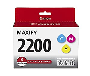 Canon PGI-2200 Three Color Ink Pack, Compatible to MB5420,MB5320,MB5120,MB5020,iB4120 and iB4020 from Canon Ink