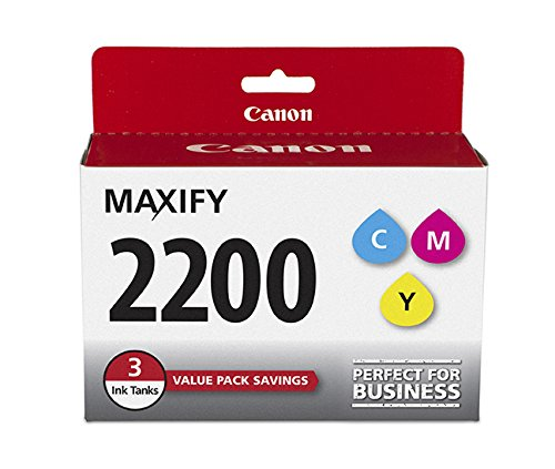Canon PGI-2200 Three Color Ink Pack, Compatible to MB5420,MB5320,MB5120,MB5020,iB4120 and iB4020 ()