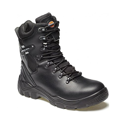 Dickies Super Safety Quebec Lined Black S1-P Safety Boot Black 11 +, FD23375 Black