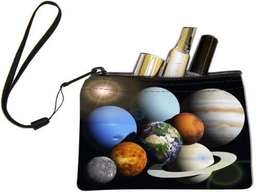 Sun Plus Travel System - Rikki Knight Solar System Planets Design Keys Coins Cards Cosmetic Mini Clutch Wristlet