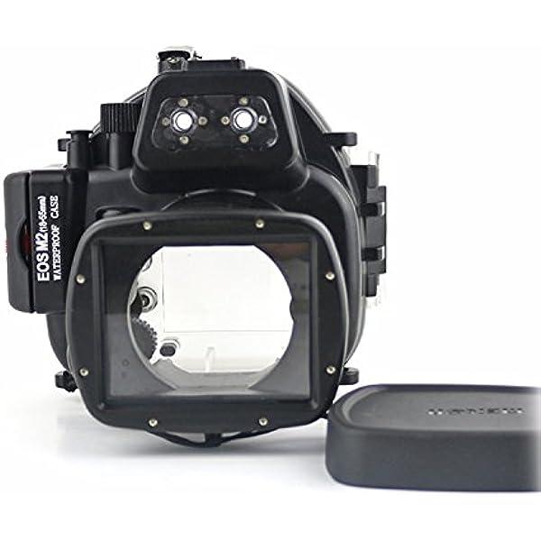 carcasa submarina para cámara Canon EOS M2 18-55mm: Amazon.es: Electrónica
