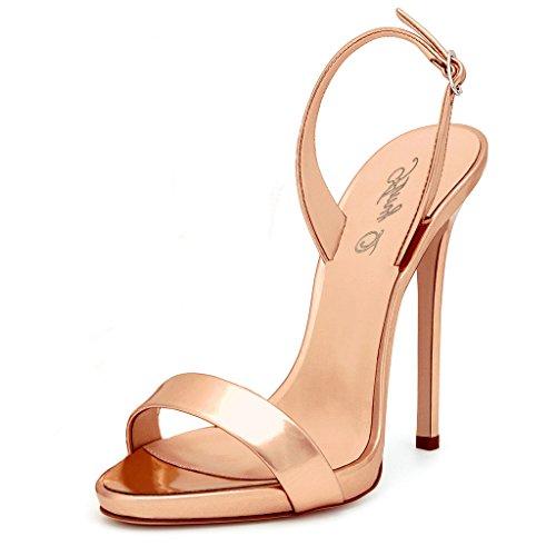 Mujer Correa Q Con Amy Rfbkj5pyu Tobillo Champán De Zapatos qYFddt