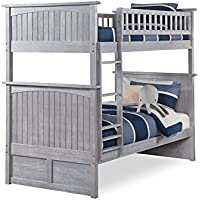 Nantucket Bunk Bed Twin over Twin, Twin/Twin, Driftwood Grey