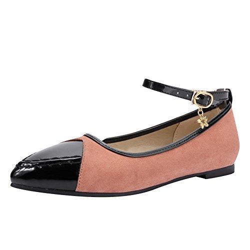 Scarpe Da Donna Con Fibbia Alla Caviglia Carolbar Scarpe A Punta Assortite Color Rosa Chiaro