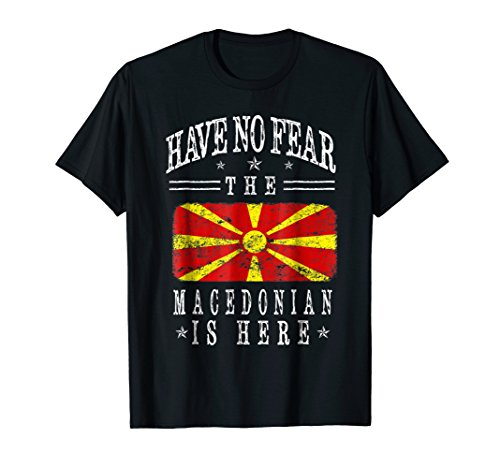 Patriot Macedonian Flag Cool Macedonia Funny Gift T-shirt
