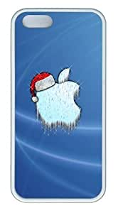 Christmas Apple LOGO TPU White funny iphone 5S case for Apple iPhone 5/5S
