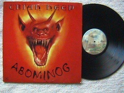 Uriah Heep Uriah Heep Abominog Lp 1982 To Scared To Run On The Rebound Mick Box Kerslak Amazon Com Music