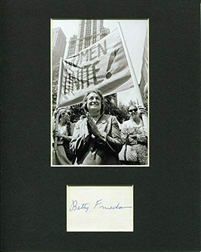 (Betty Friedan Author Feminist Women's Movement Signed Autograph Photo Display)