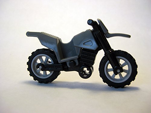 Lego Motorcycle Dirtbike -Dark Gray- Loose Minifigure Accessory from Indiana Jones Sets by LEGO