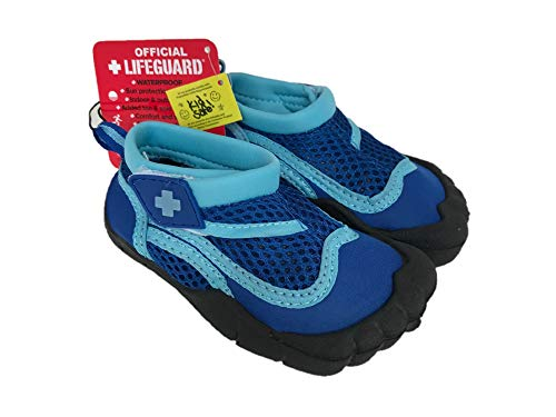 OFFICIAL LIFEGUARD Toddler Activity Shoes - Blue and Aqua (Size: S, 5/6)