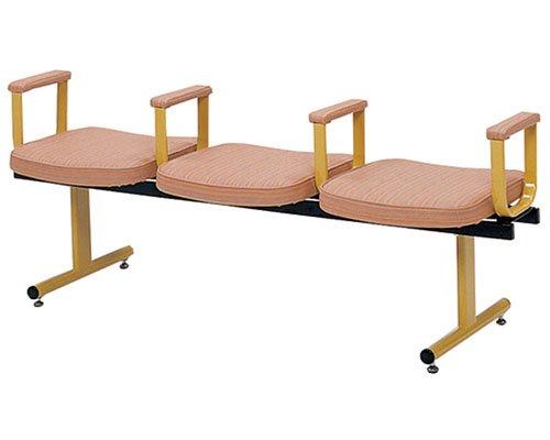 ロビーチェア 3人用背なし肘付 ベージュ ML-90-3ARM (ミトノ) (施設用いす) B01NADXKGN