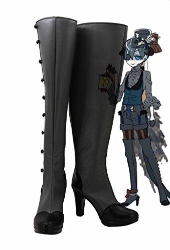 Telacos Black Butler Kuroshitsuji Demon Ciel Zapatos Cosplay Botas Por Encargo