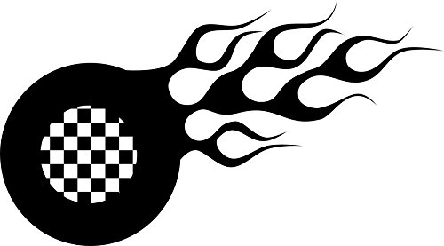 dd048-checkered-flag-flame-decal-sticker-75-inches-by-4-inches-premium-quality-black-vinyl