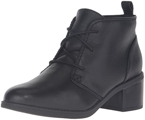 Clarks Women's Nevella Harper Boot, Black Leather, 9 M US