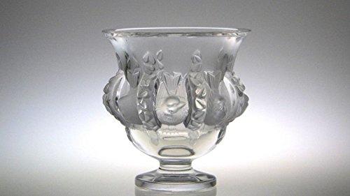 訳あり ラリック 花瓶 ● ダンピエール フラワーベース 小鳥 フロステッド クリスタル Dampierre B07D46PTHT