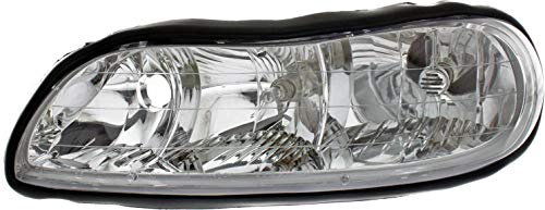 Headlight Assembly Compatible with 1997-2003 Chevrolet Malibu/Classic 2004-2005 Halogen Composite Driver Side