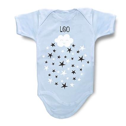 Body personalizado modelo estrellas, nombre Leo: Amazon.es: Bebé