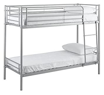 Ideal Mika Shorty Bunk Bed Frame Silver 2ft6 Bed Children S Twin