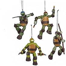 Kurt Adler Teenage Mutant Ninja Turtles Christmas Ornaments 4 Assorted