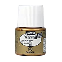 Pebeo Vitrail Stained Glass Effect Glass Paint 45ml Bottle, Gold
