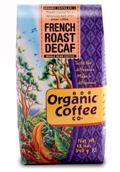 The Organic Coffee Company, French Roast Decaf - 12 oz. Whole Bean