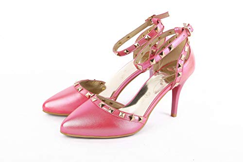 Medio Gmmlb010275 Rosa Fibbia Luccichio Tacco Agoolar Sandali Donna Puro XPBw8qBx0I