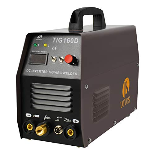 Lotos TIG160 160A DC Tig Welder with DC Stick/Arc Welding Machine, IGBT, 110V 220V Auto Dual Voltage, Brown from LOTOS