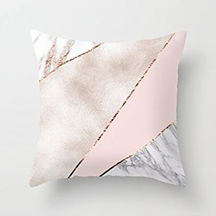Amazon UOOPOO Spliced Mixed Rose Gold Marble Throw Pillow Case Mesmerizing Rose Gold Decorative Pillows