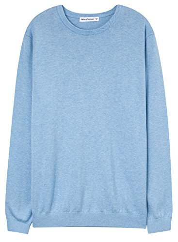 meters-bonwe-mens-basic-round-neck-long-sleeve-solid-pullover-sweater-light-blue-xl
