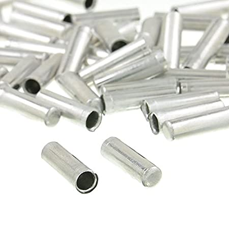 100pcs Bicycle Shifter Brake Gear Inner Cable Tips Ends Caps Crimp Ferrule T HIC