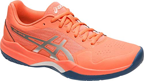 ASICS Gel-Game 7 Women's Tennis Shoe, Papaya/Silver, 6.5 B US