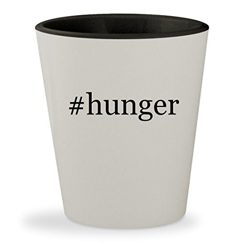 #hunger - Hashtag White Outer & Black Inner Ceramic 1.5oz Shot - Lawrence Glasses Jennifer