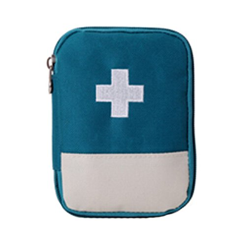 Portable First AID Pouch Pill Bags Medicine Storage Container Pill Case Blue by Kylin Express