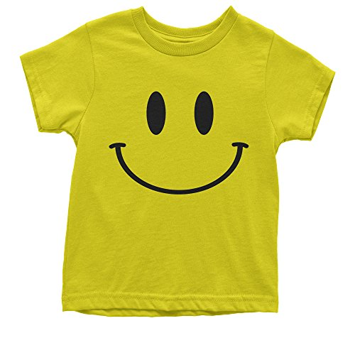 Youth Big Smiley Face T-Shirt Small - Small Big Face Face
