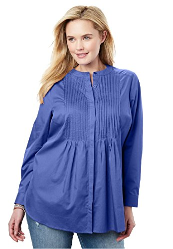 Woman Within Women's Plus Size Perfect Pintuck Shirt by Woman Within (Image #2)