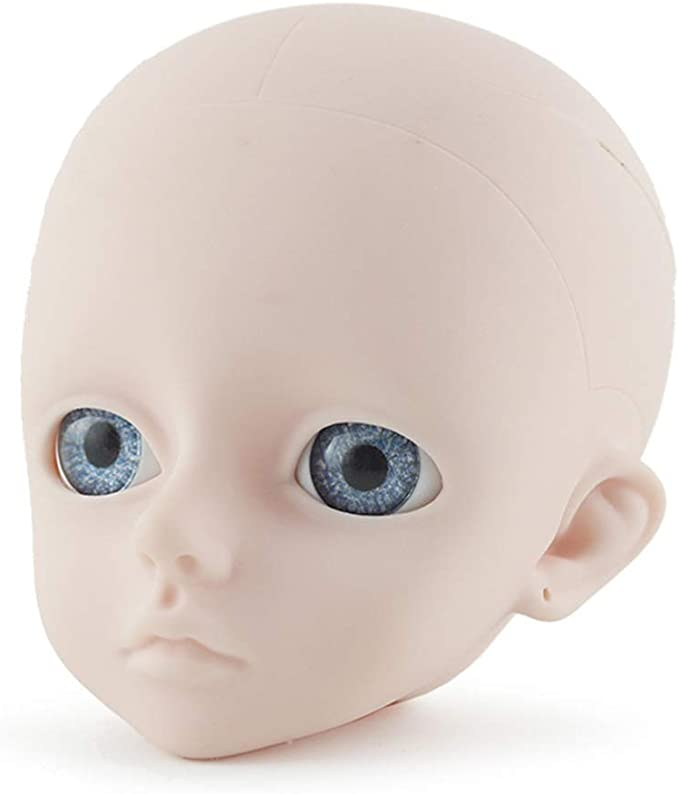 1//3 BJD Girls Doll Head Mold with 4D Eyes for Ball Jointed Dolls Accessory DIY